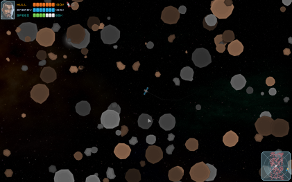 flying through the asteroid belt